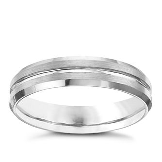 Tungsten Matt & Polished Groove Ring - Product number 8226598