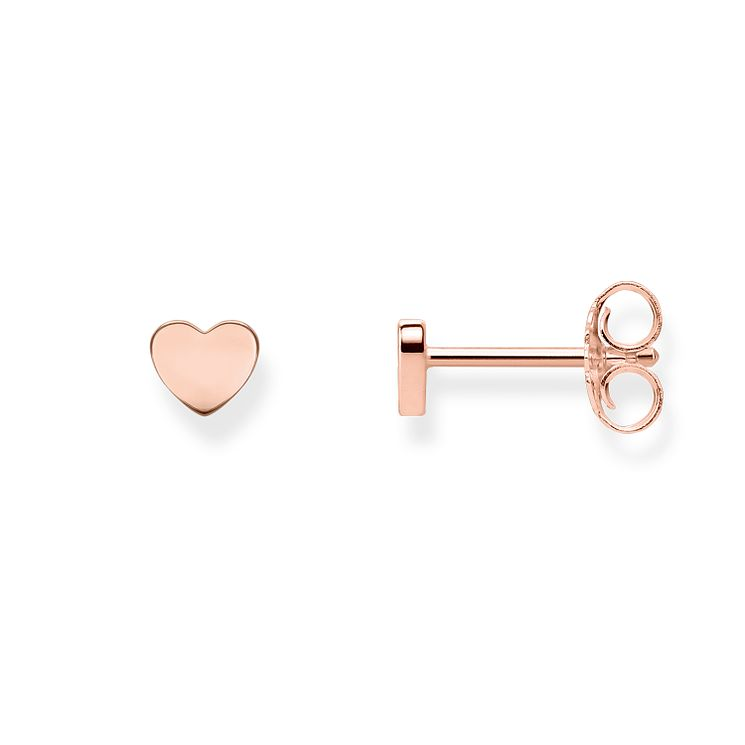 Thomas Sabo Glam & Soul Rose Gold Plated Heart Stud Earrings - Product number 8226946