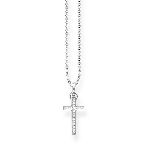 Thomas Sabo Glam & Soul Sterling Silver Cross Necklace - Product number 8227268