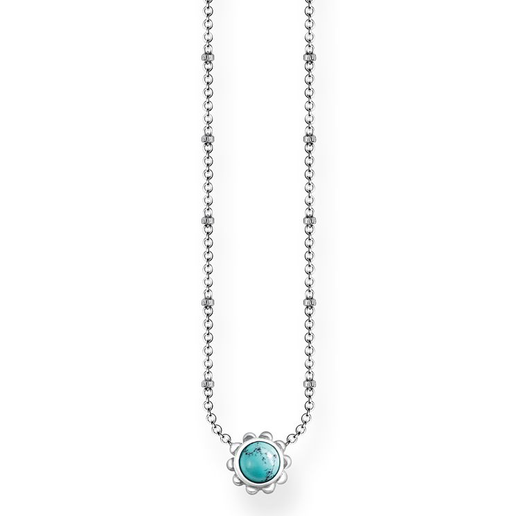 Thomas Sabo Glam & Soul Sterling Silver Turquoise Necklace - Product number 8227292