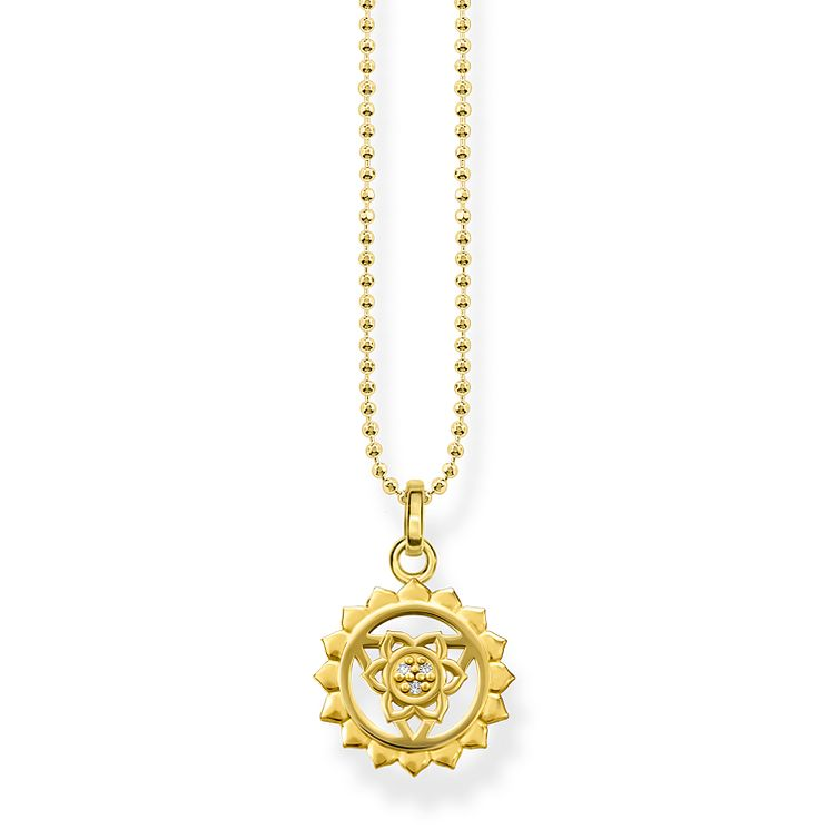 Thomas Sabo Glam & Soul Yellow Gold Plated Chakra Pendant - Product number 8227357
