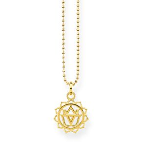 Thomas Sabo Glam & Soul Yellow Gold Plated Chakra Pendant - Product number 8227365