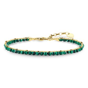Thomas Sabo Glam & Soul Yellow Gold Plated Green Bracelet - Product number 8227497