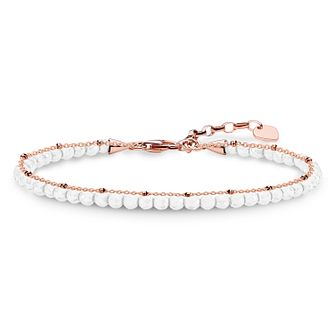 Thomas Sabo Glam & Soul Rose Gold Plated White Bracelet - Product number 8227519