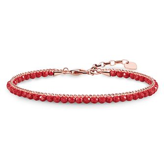 Thomas Sabo Glam & Soul Rose Gold Plated Red Chakra Bracelet - Product number 8227527