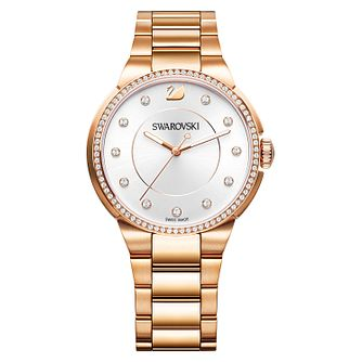 Swarovski City Rose Gold Plated Ladies' Bracelet Watch - Product number 8228965