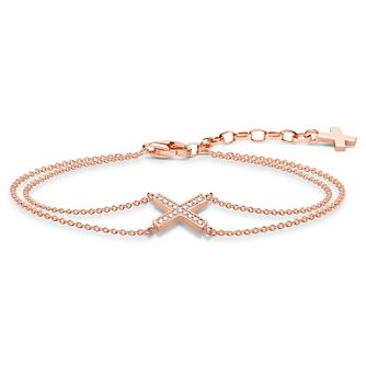 Thomas Sabo Glam & Soul Rose Gold Plated Classic X Bracelet - Product number 8231338