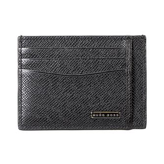Hugo Boss Signature Men's Black Leather Cardholder - Product number 8231893