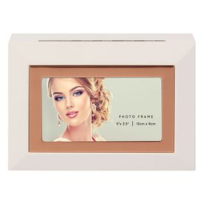 White MDF Photo Frame Jewellery Box - Product number 8231915