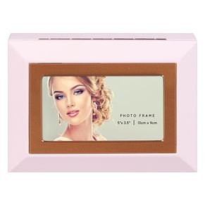 Pink MDF Photo Frame Jewellery Box - Product number 8231923