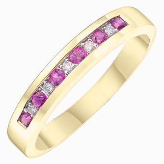 18ct Yellow Gold Ruby Solitaire Ring - Product number 8232245