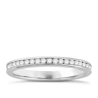 18ct white gold 1/2ct diamond eternity ring - Product number 8237093