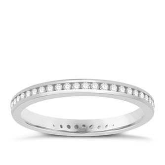 Platinum 1/4ct Diamond Full Eternity Ring - Product number 8237360