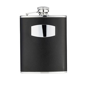 Classic Collection 6oz Black Leather Hipflask - Product number 8238480