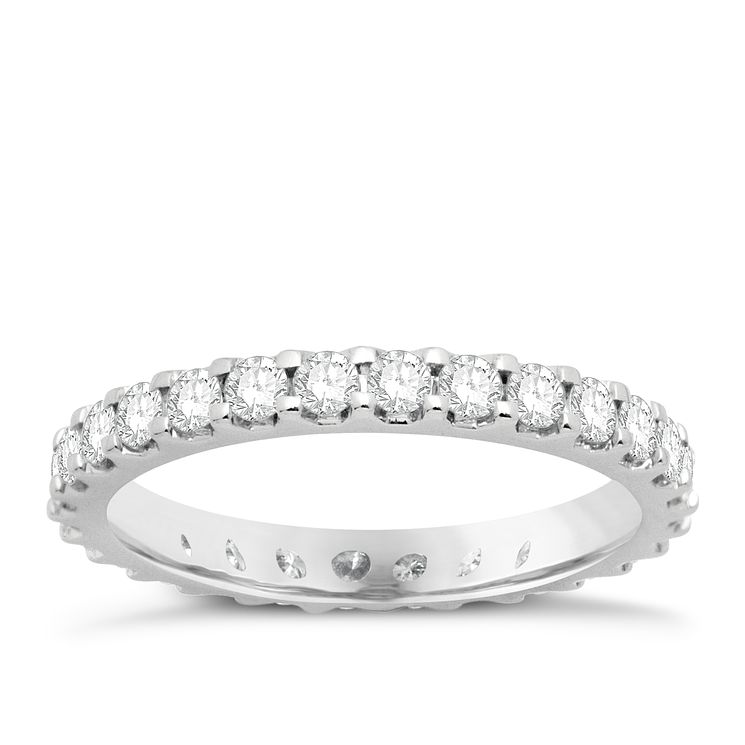 Platinum one carat diamond eternity ring - Product number 8241449