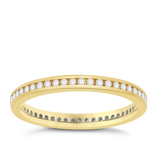 18ct yellow gold 0.25ct diamond ring - Product number 8243840