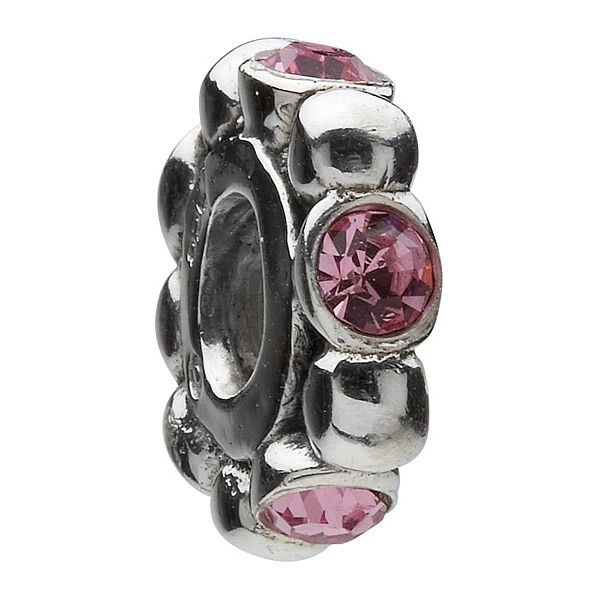 Chamilia - Sterling Silver Pink Crystal Bead - Product number 8341451