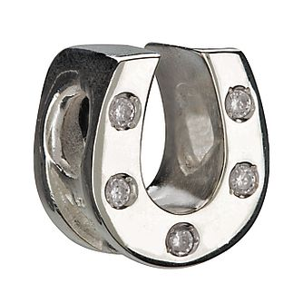 Chamilia - Sterling Silver & Cubic Zirconia Horseshoe Bead - Product number 8341486