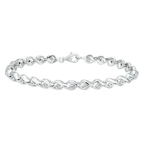 Silver 1/10ct Diamond Swirl Bracelet - Product number 8342652