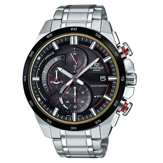 Casio Edifice Men's Stainless Steel Black Bracelet Watch - Product number 8344744