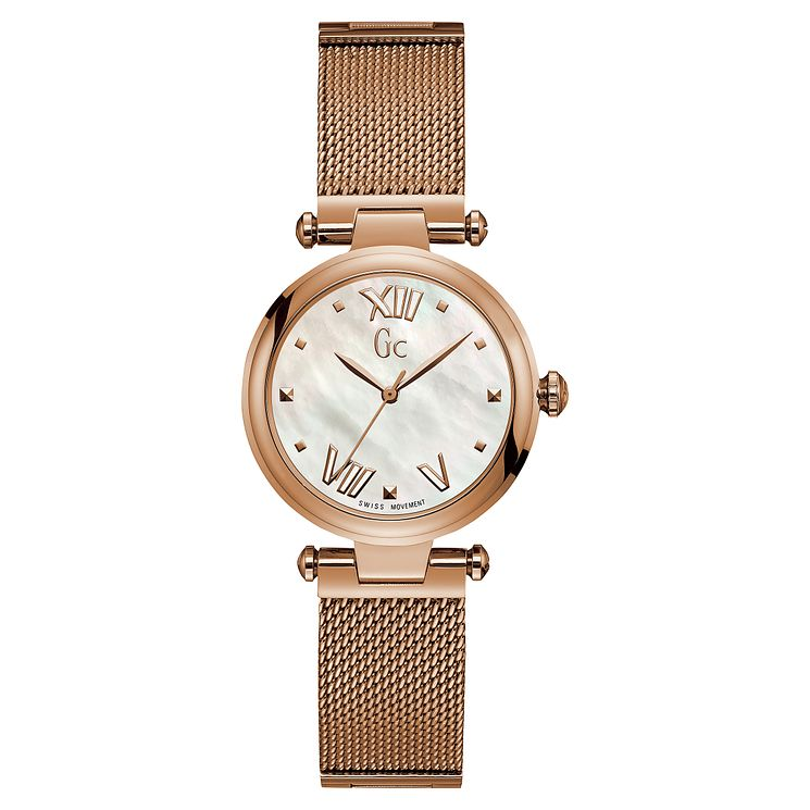 Gc LadyChic Ladies' Rose Gold Tone Mesh Bracelet Watch - Product number 8346852