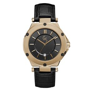 Gc Gc-3 Men's Black Leather Strap Watch - Product number 8346887