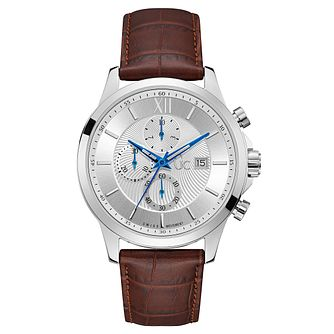 Gc Men's Brown Leather Strap Watch - Product number 8346976
