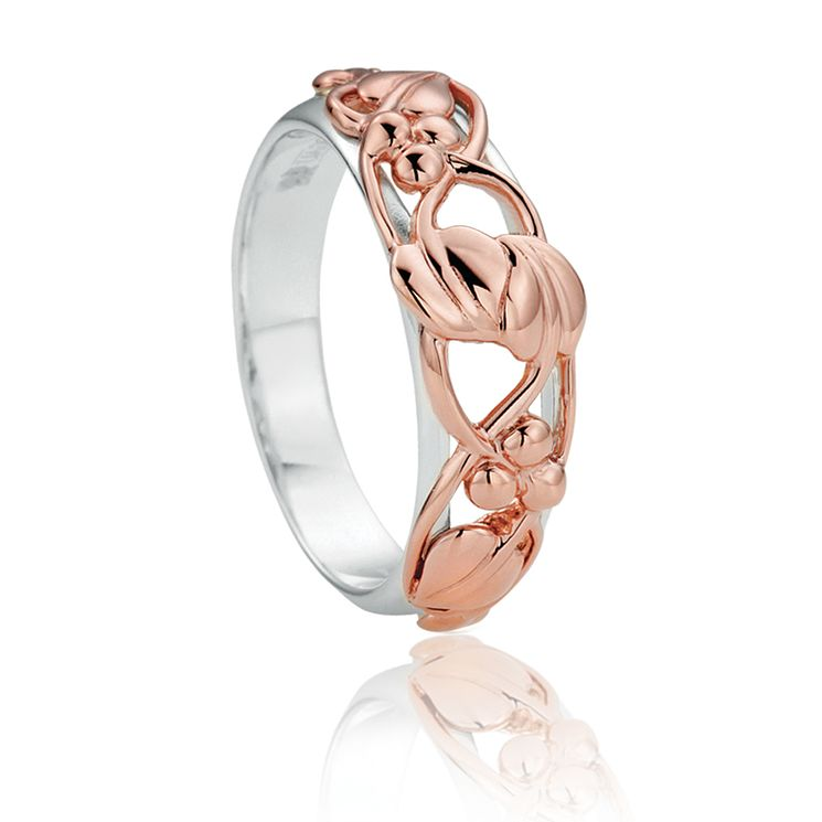 Clogau Silver & 9ct Rose Gold Tree Life Ring