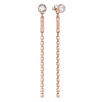 Guess Rose Gold Plated Multi Chain Earrings - Product number 8359431