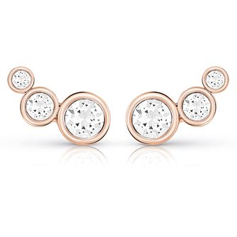 Guess Rose Gold Plated Multi Crystal Stud Earrings - Product number 8359466