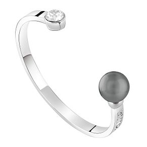 Guess Rhodium Plated Pearl Bangle - Product number 8359539