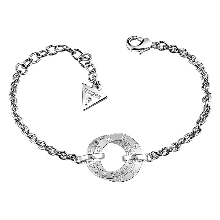 Guess Rhodium Plated Circles Bracelet - Product number 8359547