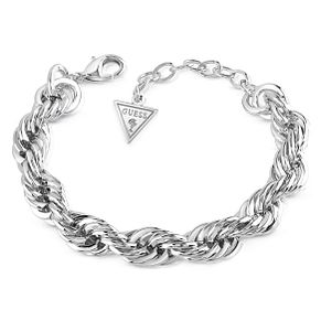 Guess Rhodium Plated Turned Chain Bracelet - Product number 8359571