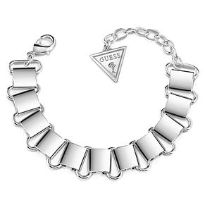 Guess Rhodium Plated Big Link Chain Bracelet - Product number 8359598