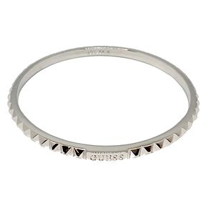 Guess Rhodium Plated Studded Circle Bangle - Product number 8359989