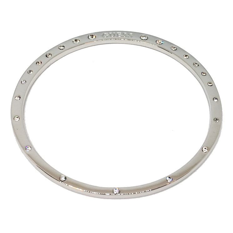 Guess Rhodium Plated Crystal Circle Bangle - Product number 8360006