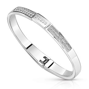 Guess Silver Plated Rhodium Crystal-Set Bangle - Product number 8360111