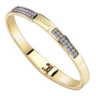 Guess Gold Plated Black Diamond Crystal Bangle - Product number 8360138