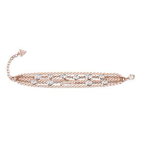Guess Rose Gold Plated Multi Crystal Chain Bracelet - Product number 8360200