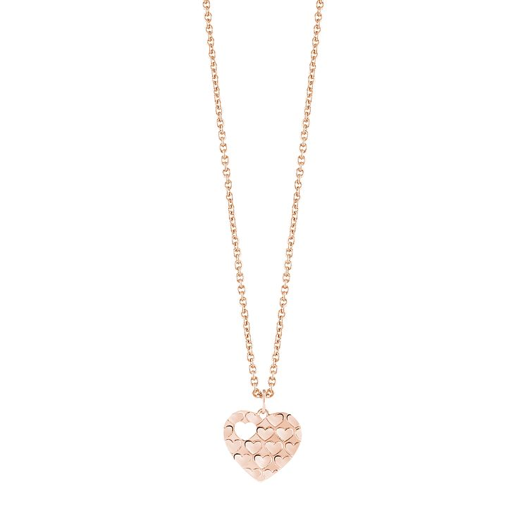 Guess Rose Gold Plated Multi Heart Necklace