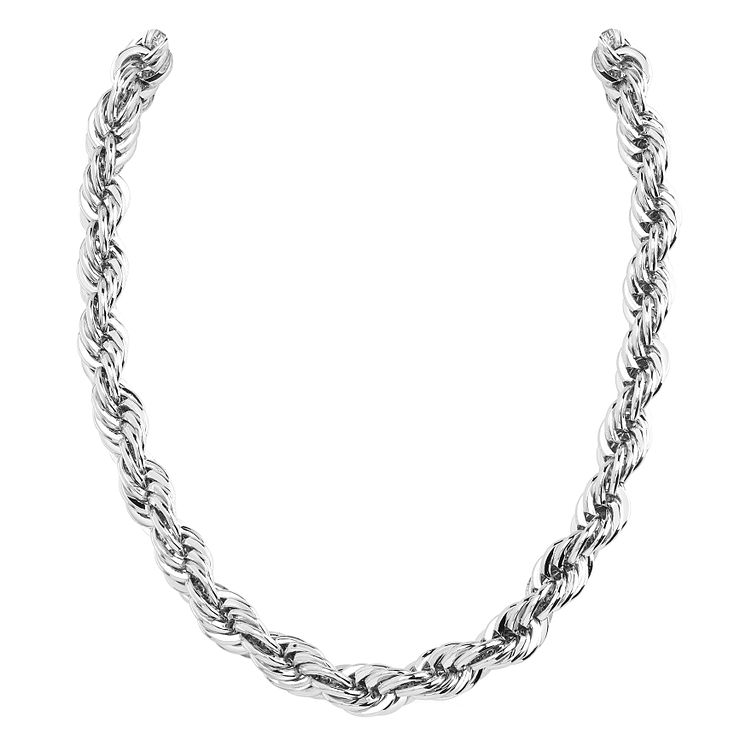 Guess Rhodium Plated Turned Chain Bracelet - Product number 8360308