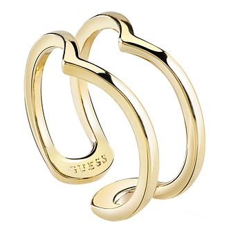 Guess Gold Plated Open Triangle Ring - Product number 8360693