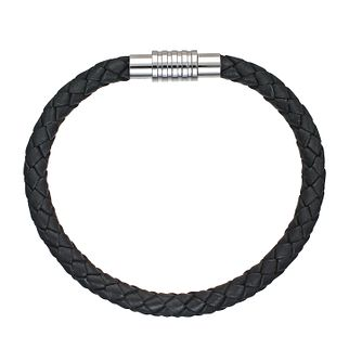 Spartan Jupiter black leather bracelet 22cm - Product number 8365334