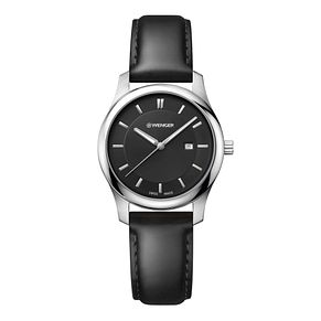 Wenger City Classic Ladies' Black Leather Strap Watch - Product number 8367582