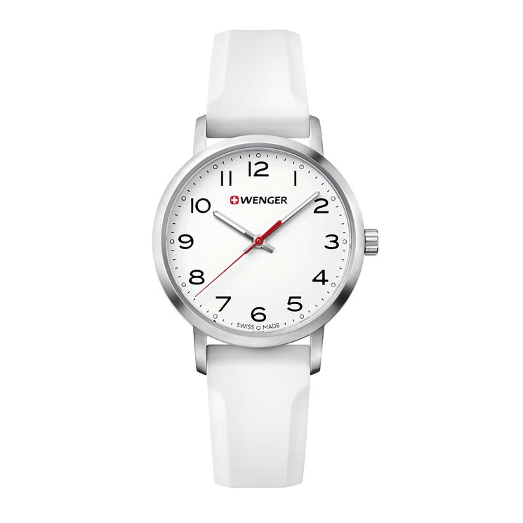 Wenger Avenue Ladies' White Silicone Strap Watch - Product number 8367655