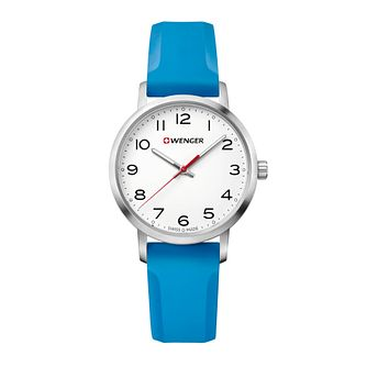Wenger Avenue Ladies' Blue Silicone Strap Watch - Product number 8367922