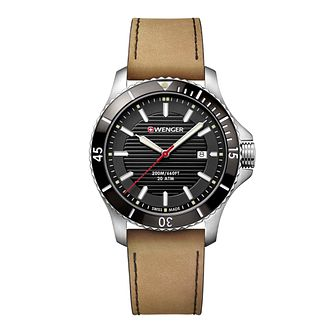 Wenger Seaforce Men's Light Brown Leather Strap Watch - Product number 8367965