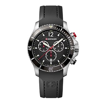 Wenger Seaforce Chrono Men's Black Silicone Strap Watch - Product number 8367973