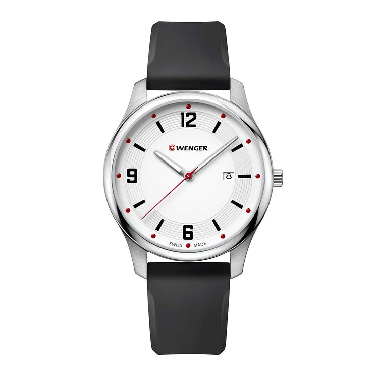 Wenger City Active Men's Black Silicone Strap Watch - Product number 8368074