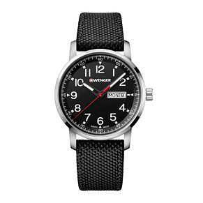 Wenger Attitude Heritage Men's Black Fabric Strap Watch - Product number 8368155